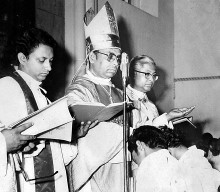 Ordination and First Holy Mass of Fr. Abraham Mutholath in 1980.