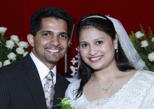 Wedding of Tony Vattamattam with Sneha Valumattathil.